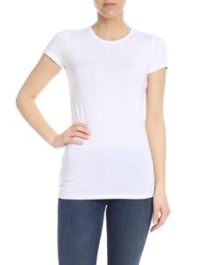 Majestic Filatures - T-shirt in white viscose