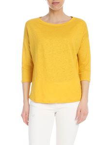 Majestic Filatures - Linen T-shirt in yellow