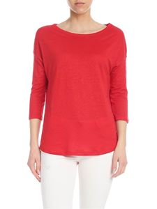 Majestic Filatures - Linen T-shirt in red