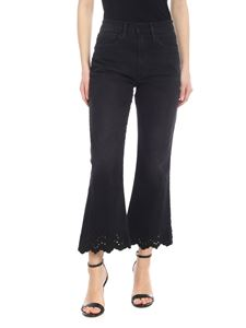 Frame - Black bootcut jeans with embroidery