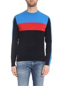 Kenzo - Technical Jumper pullover in blue and black