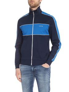 Calvin Klein - Blue sweatshirt with light blue stripes