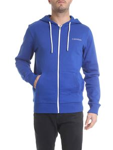 Calvin Klein - Bright blue sweatshirt with logo embroidery