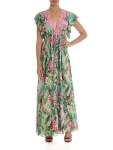 KI6? Who are you? - Floral dress in pink and green