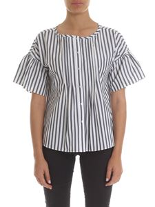 Max Mara Weekend - Scilla striped shirt in white and grey