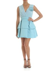 KI6? Who are you? - Light blue dress with fringed brooch