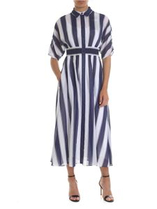 Sportmax - Anversa chemisier in white and blue