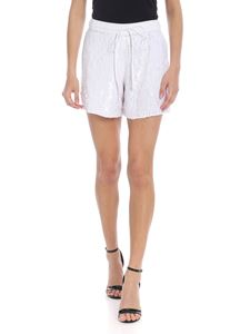 Parosh - Shorts with white sequins