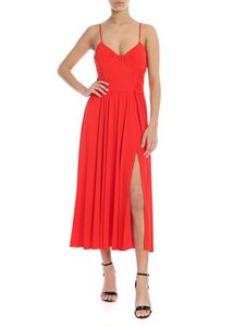 MSGM - Long sleeveless dress in red