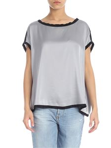 Jucca - Grey silk top with black edges