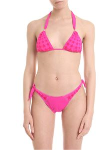 Pin-Up Stars - Bikini in fuchsia with star print