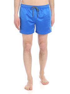 Paul Smith Swimwear - Zebra Logo sea boxer in blue