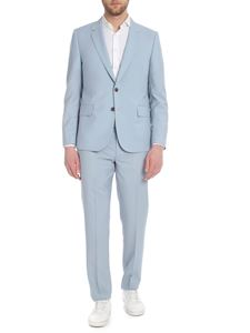 Paul Smith - Two-button light wool suit in light blue