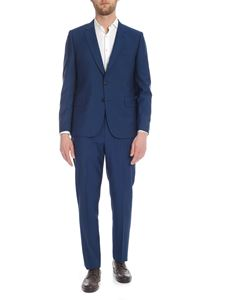 Paul Smith - Two-button suit in light blue wool