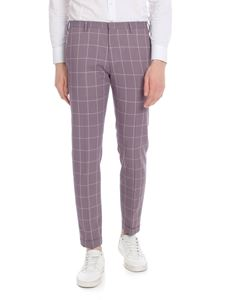 Paul Smith - Check lilac wool trousers