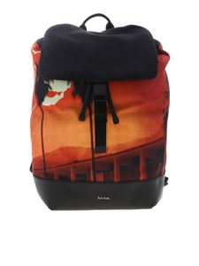 Paul Smith - Black backpack with Paul's Photo print