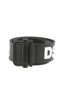Dsquared2 - Belt in black with Dsquared print