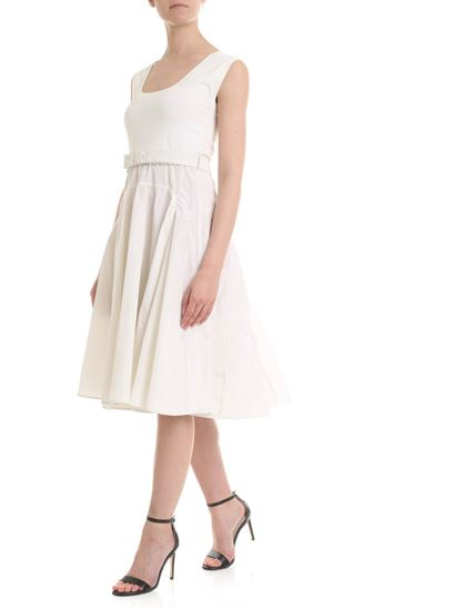 eb3f450d76d Moncler Spring Summer 2019 ivory white flounce dress - 9550300 999ED 036
