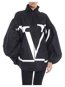 Valentino - Deconstructed Go Logo peacoat in technical Radzmir
