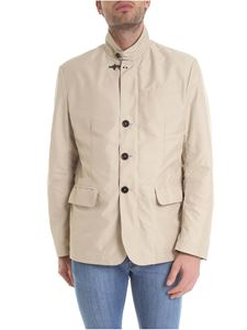 Fay - Beige overcoat with flap pockets