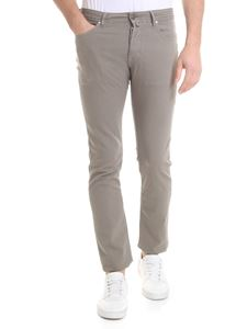 Jacob Cohën - Textured fabric trousers in dove-gray