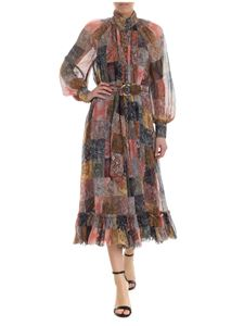 Zimmermann - Multicolor patchwork chemisier with paisley print