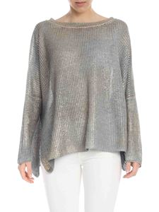 Avant Toi - Boxy pullover in grey with golden coating