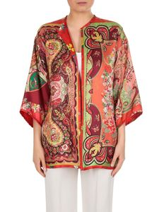 Etro - Silk jacket with jaquard and paisley multipattern