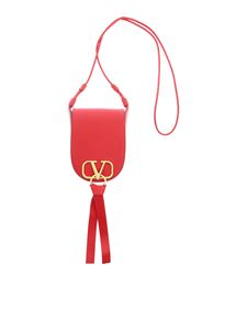 Valentino - Small Vring shoulder bag in red