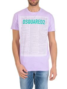 Dsquared2 - Journal Dsquared2 printed t-shirt in lilac