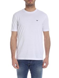 Emporio Armani - Set 2 t-shirt in white with rubber logo