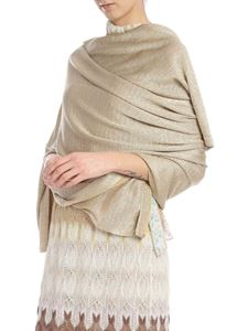 Missoni - Stole in golden knitted viscose