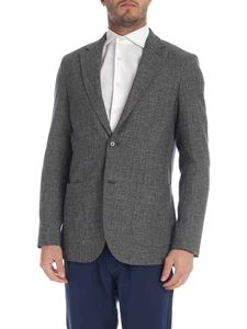 Eleventy - Light wool jacket in melange gray