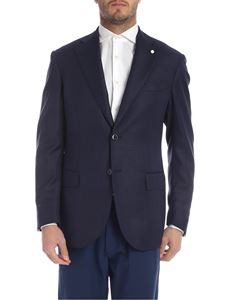 Luigi Bianchi Mantova - Lightweight jacket in melange blue