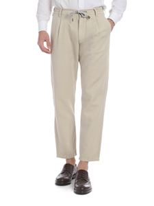 Eleventy - Trousers in beige with drawstring