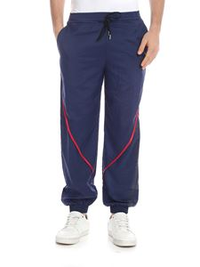Versace Jeans - Red bands pants in blue