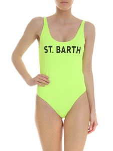 MC2 Saint Barth - Neon yellow one-piece swimsuit