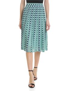 M Missoni - Pleated skirt in water green