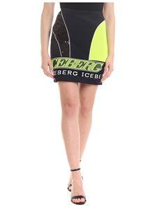 Iceberg - Skirt in black with fluo details