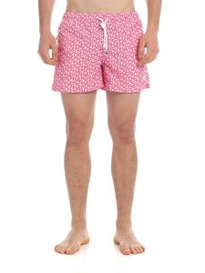 Luigi Borrelli - Swim shorts in pink with floral print