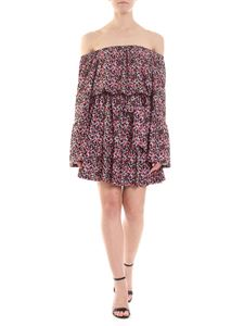 Michael Kors - Black dress with pink floral pattern