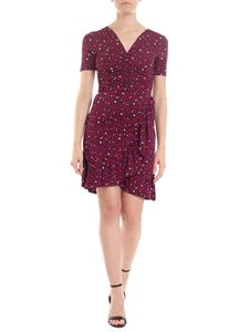 Michael Kors - Blue dress with red and white hearts print