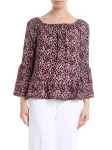 Michael Kors - Blouse in black with floral print