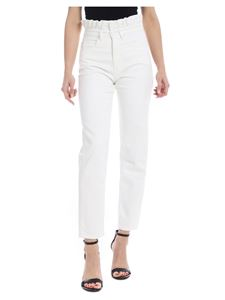 Pinko Jeans - White Gigi Rouches jeans with rouches