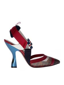Fendi - Colibrì sandals in red technical fabric