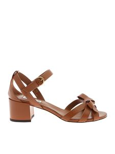 Tod's - Sandals in brown with bow