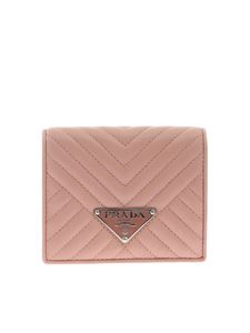Prada - Pink wallet with Prada logo