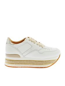 Hogan - H426 sneakers in white with golden details