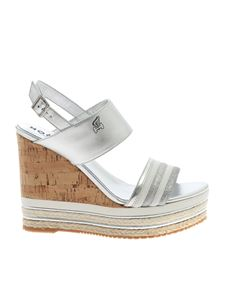 Hogan - H442 sandals in silver colored
