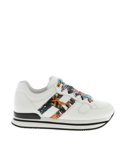 Hogan Spring Summer 2019 h222 sneakers in white with floral ...